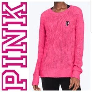 Pink Victoria's Secret Heritage Crewneck Sweater